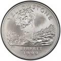 1 доллар 1999 Йеллоустоун, серебро UNC