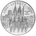 1 доллар 2002 США 200 лет Вэст-Поинта,  UNC, серебро