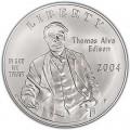 1 доллар 2004 Томас Альва Эдисон, серебро UNC
