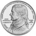 1 доллар 2005 Джон Маршалл, серебро UNC