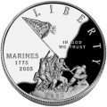 Dollar 2005 Marine Corps 230th Anniversary silver proof