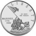 1 доллар 2005 230-летие Морской Пехоты, серебро UNC