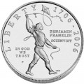 1 доллар 2006 США Бенджамин Франклин Ученый,  UNC, серебро