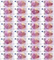 Set of banknotes 0 euros 2018 Countries participating in the World Cup in Russia, 32 banknotes