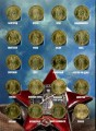 Set of coins Cities of War Glory and other series in album, 57 coins