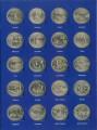 Набор 25 центов 50 штатов и 6 территорий США 1999-2009 двор P, в альбоме