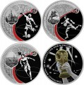 Set 3 rubles 2018 World Cup FIFA 2018 in Russia, Cities 3, silver