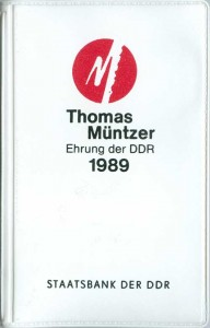 A set of 5 marks 1989 Germany, 500th Anniversary of the Birth of Thomas Münzer, 2 coins