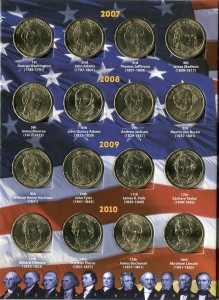 Set of USA presidential 1 dollar series, 40 coins in Album
