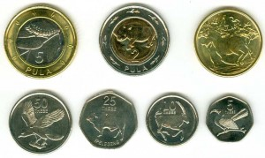 Set coins 2013 Botswana, 7 coins