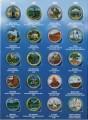Набор цветных 25 центов Национальные парки, в альбоме