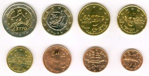 Euro coin set Greece 2008 (8 coins)