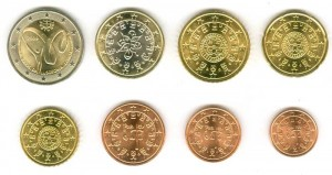 Euro coin set Portugal 2009 (8 coins)