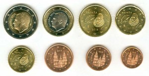 Euro coin set Spain 2018 (8 coins)